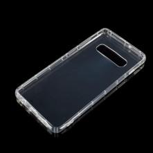 Rugalmas TPU tok Samsung Galaxy S10 Plus készülékhez - ÁTTETSZŐ