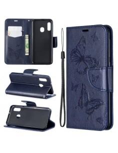 Dombornyomott pillangós telefontok Samsung Galaxy A20e telefonhoz - KÉK