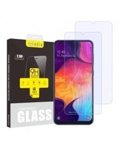 Kijelzővédő karcálló edzett üveg Samsung Galaxy A50 típusú telefonhoz - 2 db