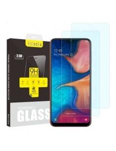Kijelzővédő karcálló edzett üveg Samsung Galaxy A20e típusú telefonhoz - 2 db