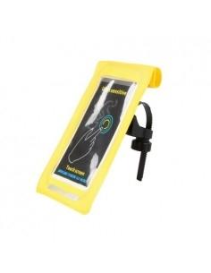 GUB kerékpár kormányra rögzíthető vízhatlan telefon tartó max. 6 colos készülékekhez - SÁRGA