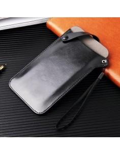 Univerzális zárható telefontok 16.5 x 9 cm - FEKETE