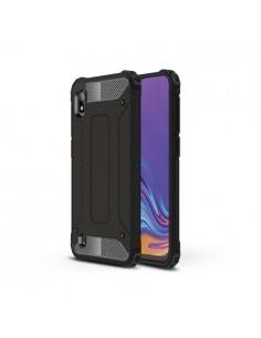 Kemény műanyag és rugalmas TPU hibrid tok Samsung Galaxy A10 telefonhoz - FEKETE