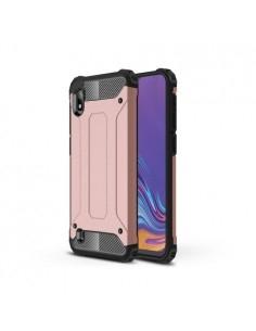 Kemény műanyag és rugalmas TPU hibrid tok Samsung Galaxy A10 telefonhoz - RÓZSAARANY