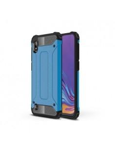 Kemény műanyag és rugalmas TPU hibrid tok Samsung Galaxy A10 telefonhoz - KÉK