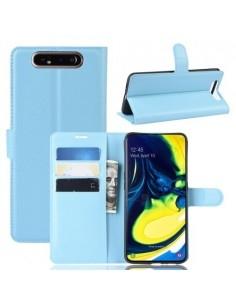 Oldalra nyíló tok Samsung Galaxy A80 / A90 telefonhoz - KÉK