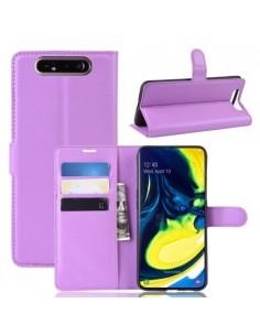 Oldalra nyíló tok Samsung Galaxy A80 / A90 telefonhoz - LILA