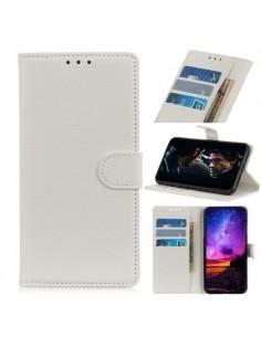 Oldalra nyíló tok LG K40 / K12 Plus telefonhoz - FEHÉR