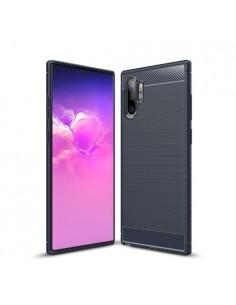 Samsung Galaxy Note 10 Plus karbon mintás tok - KÉK