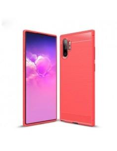 Samsung Galaxy Note 10 Plus karbon mintás tok - PIROS