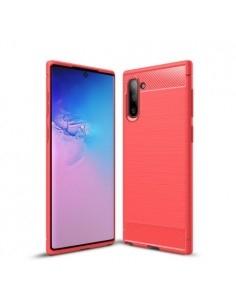 Samsung Galaxy Note 10 karbon mintás tok - PIROS
