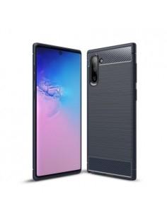 Samsung Galaxy Note 10 karbon mintás tok - KÉK