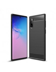 Samsung Galaxy Note 10 karbon mintás tok - FEKETE