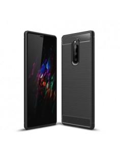 Sony Xperia 1 karbon mintás tok - FEKETE
