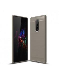 Sony Xperia 1 karbon mintás tok - SZÜRKE