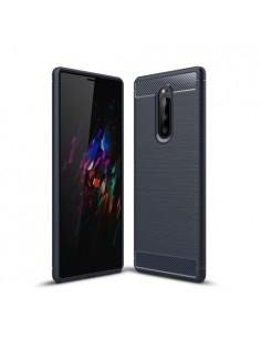 Sony Xperia 1 karbon mintás tok - KÉK
