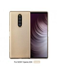 Sony Xperia 1 karbon mintás tok - ARANY