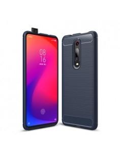 Xiaomi Redmi K20 / Mi 9T / Redmi K20 Pro / Mi 9T Pro karbon mintás tok - KÉK