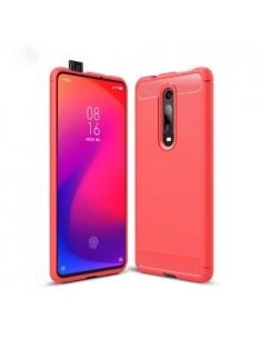 Xiaomi Redmi K20 / Mi 9T / Redmi K20 Pro / Mi 9T Pro karbon mintás tok - PIROS