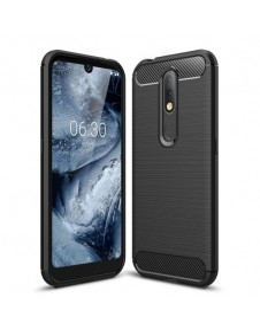 Nokia 4.2 karbon mintás tok - FEKETE