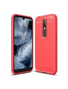 Nokia 4.2 karbon mintás tok - PIROS