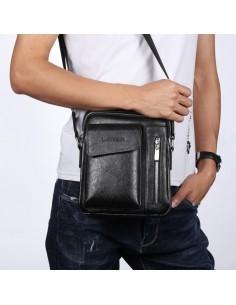 WEIXIER vállra akasztható tablet tartó, telefontartó táska - FEKETE