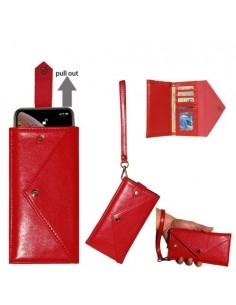 Telefontartó pénztárca karpánttal maximum 6.5-7.2 colos készülékhez - PIROS