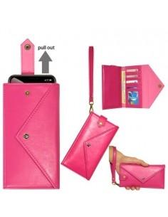Telefontartó pénztárca karpánttal maximum 6.5-7.2 colos készülékhez - PINK