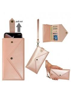 Telefontartó pénztárca karpánttal maximum 6.5-7.2 colos készülékhez - RÓZSAARANY