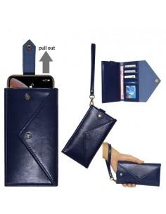 Telefontartó pénztárca karpánttal maximum 6.5-7.2 colos készülékhez - KÉK