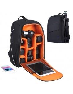 PULUZ fotós hátizsák GoPro, SJCAM, Nikon, Canon, Xiaomi Xiaoyi YI, Méret: 43 * 30 * 19.5 cm - FEKETE