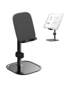 BASEUS univerzális állítható alumínium telefon, tablet tartó állvány - FEKETE