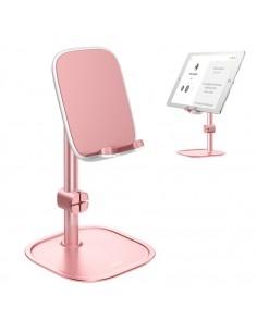 BASEUS univerzális állítható alumínium telefon, tablet tartó állvány - RÓZSAARANY