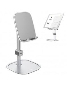 BASEUS univerzális állítható alumínium telefon, tablet tartó állvány - EZÜST