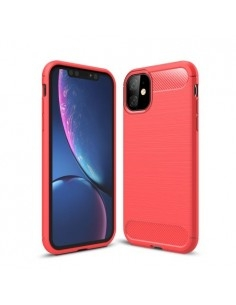Apple Iphone 11 karbon mintás tok - PIROS