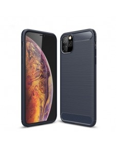 Apple Iphone 11 Pro Max karbon mintás tok - KÉK