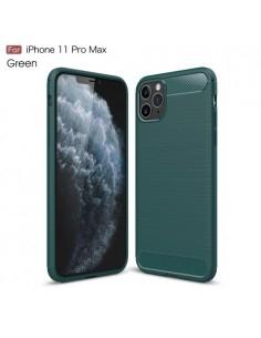 Apple Iphone 11 Pro Max karbon mintás tok - ZÖLD