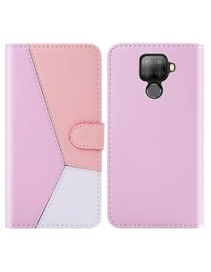 Három színű notesztok Huawei Mate 30 Lite telefonhoz - PINK - RÓZSASZÍN - FEHÉR