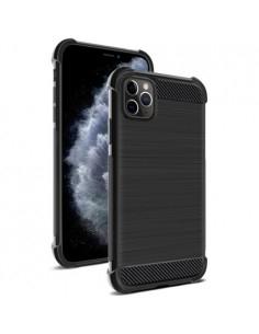 IMAK Vega karbon mintás ütésálló tok Apple iPhone 11 Pro Max készülékhez - FEKETE