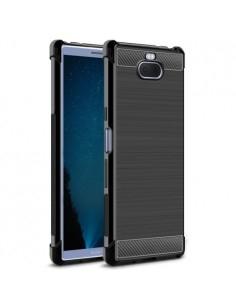 IMAK Vega karbon mintás ütésálló tok Sony Xperia 10 Plus készülékhez - FEKETE