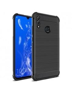 IMAK Vega karbon mintás ütésálló tok Huawei P Smart (2019) / Honor 10 Lite készülékhez - FEKETE