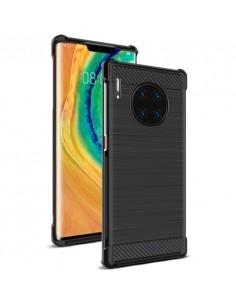 IMAK Vega karbon mintás ütésálló tok Huawei Mate 30 Pro készülékhez - FEKETE