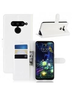 Oldalra nyíló tok LG V50 ThinQ telefonhoz - FEHÉR