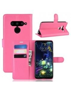 Oldalra nyíló tok LG V50 ThinQ telefonhoz - PINK