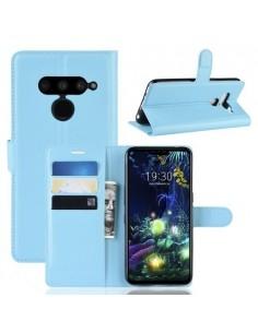 Oldalra nyíló tok LG V50 ThinQ telefonhoz - KÉK