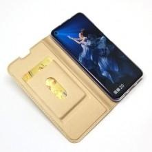 Oldalra nyíló tok Huawei Nova 5T / Honor 20S / Honor 20 telefonhoz - ARANY