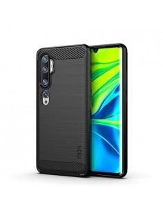 Xiaomi Mi CC9 Pro / Note 10 / Note 10 Pro karbon mintás tok - FEKETE