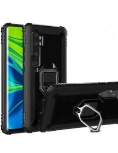 Xiaomi Mi Note 10 / CC9 Pro gyűrűs masszív tok - FEKETE