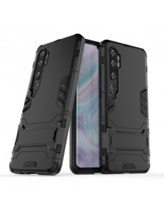 Hibrid tok kemény műanyag és szilikon anyagból Xiaomi Mi CC9 Pro / Note 10 telefonhoz - FEKETE