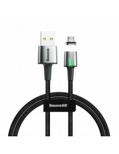 BASEUS 1 méteres törésgátlós micro USB gyorstöltő kábel, adatkábel - FEKETE